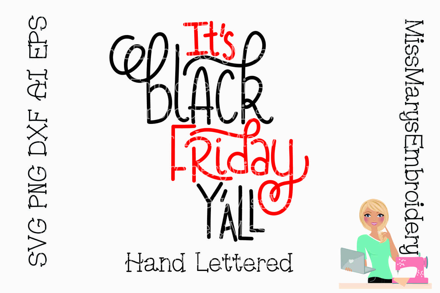 Hand Lettered Black Friday SVG Saying example image 1