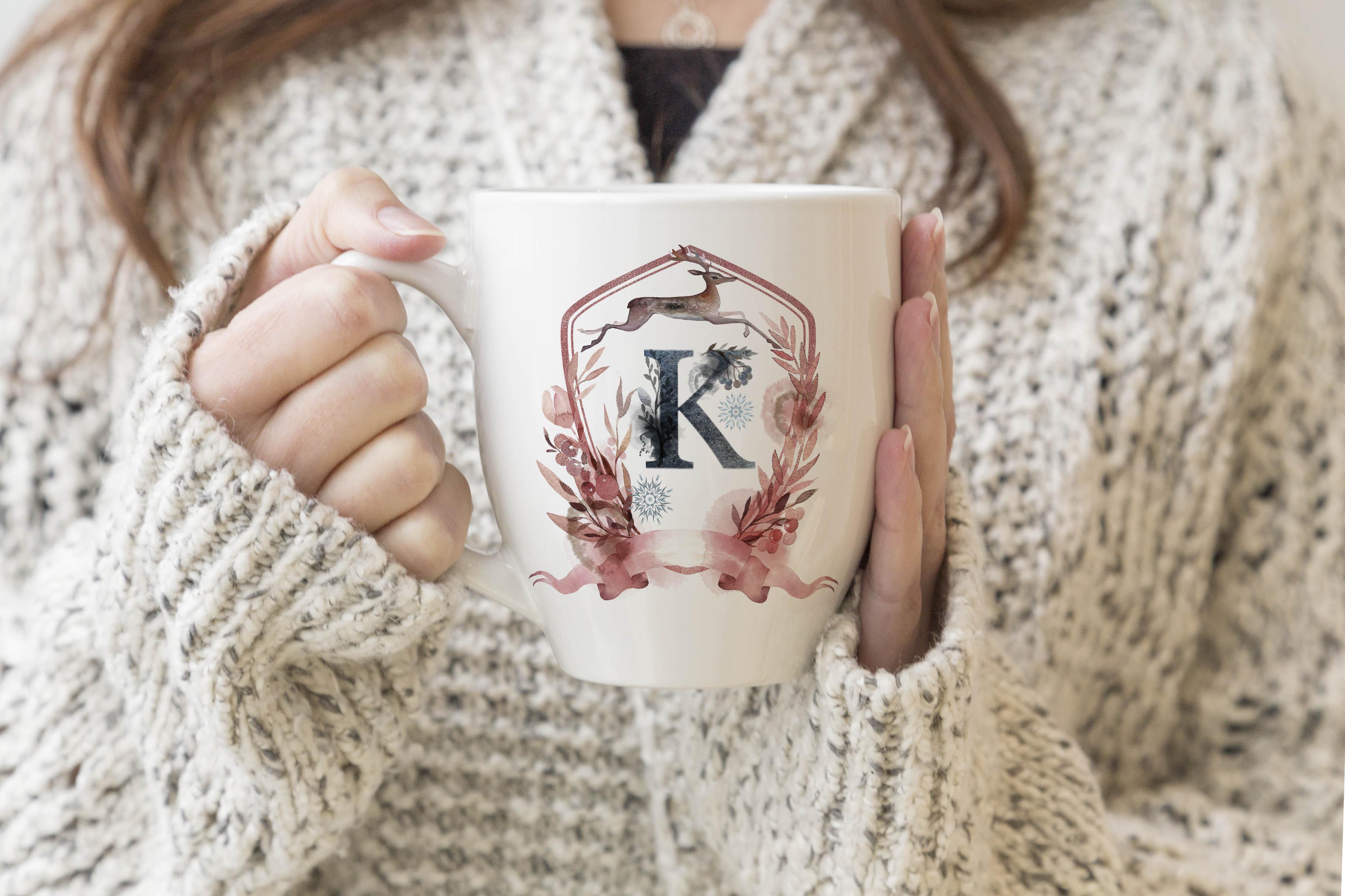 Bistro Mug Mockup - Woman holding mug example image 2