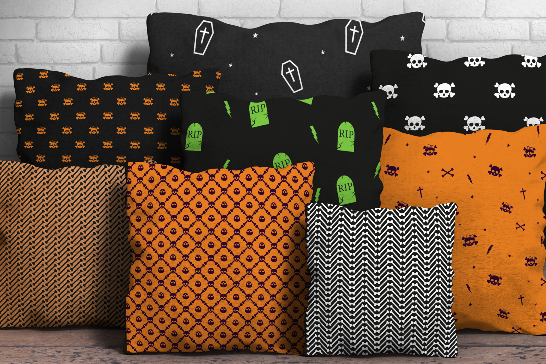 80 Halloween Seamless Vector Pattern Swatches example image 2