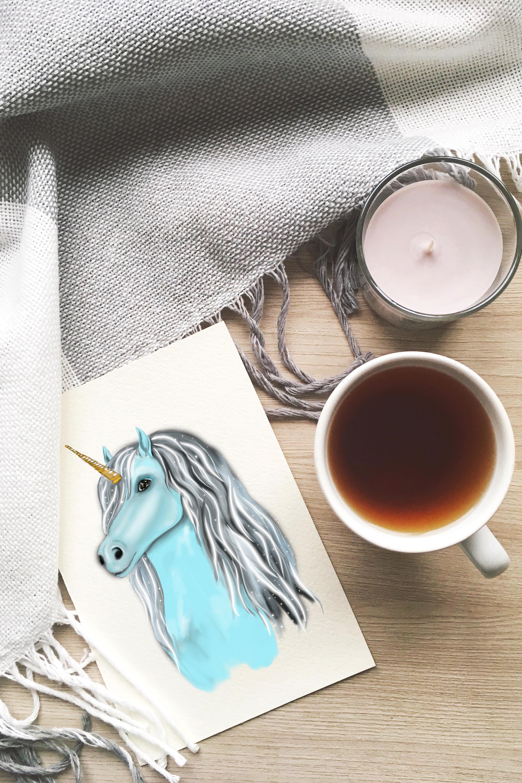 Unicorn clipart, fairy clipart, magic unicorn face clipart example image 7
