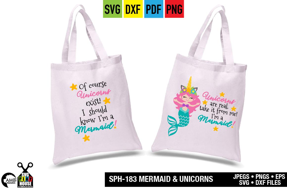 Mermaid and unicorns svg SPH-183 example image 2