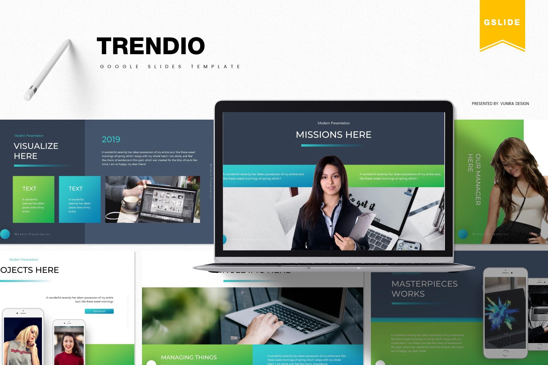 Trendio   Powerpoint, Keynote, GoogleSlides Template example image 1