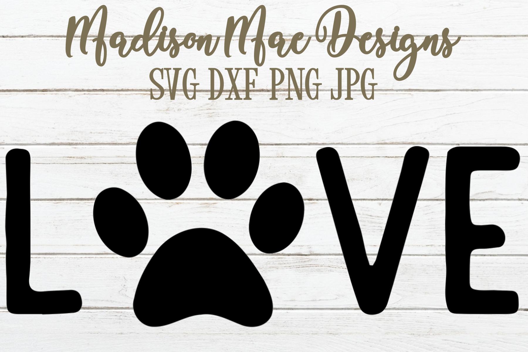 Love Dog Paw SVG | Dog Lover SVG | Dog Paw SVG example image 2