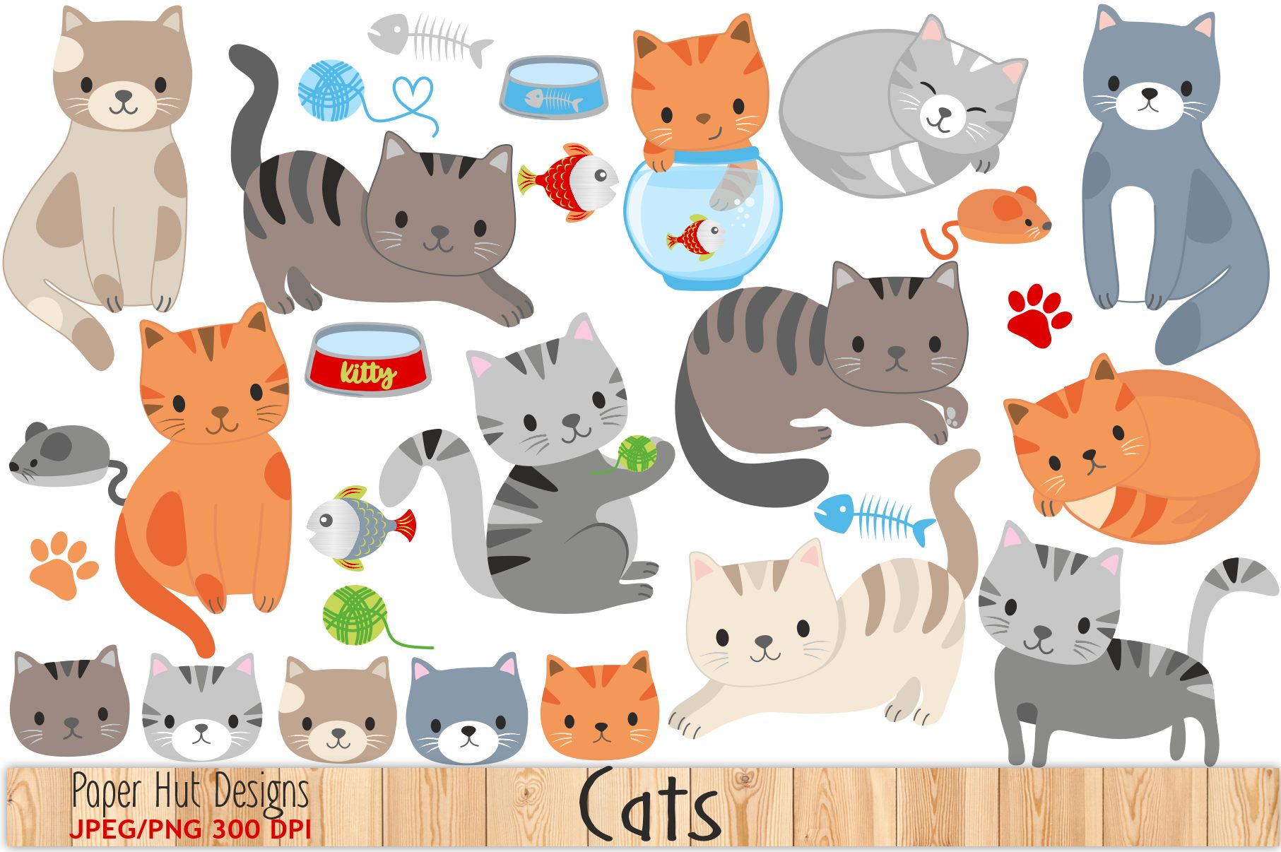 Cute Cat Clipart example image 1