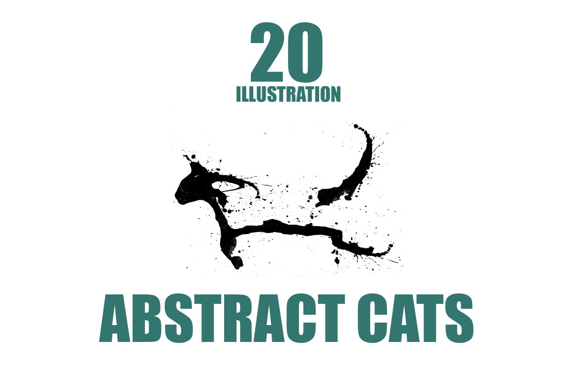 20 Illustration abstract Cats example image 1