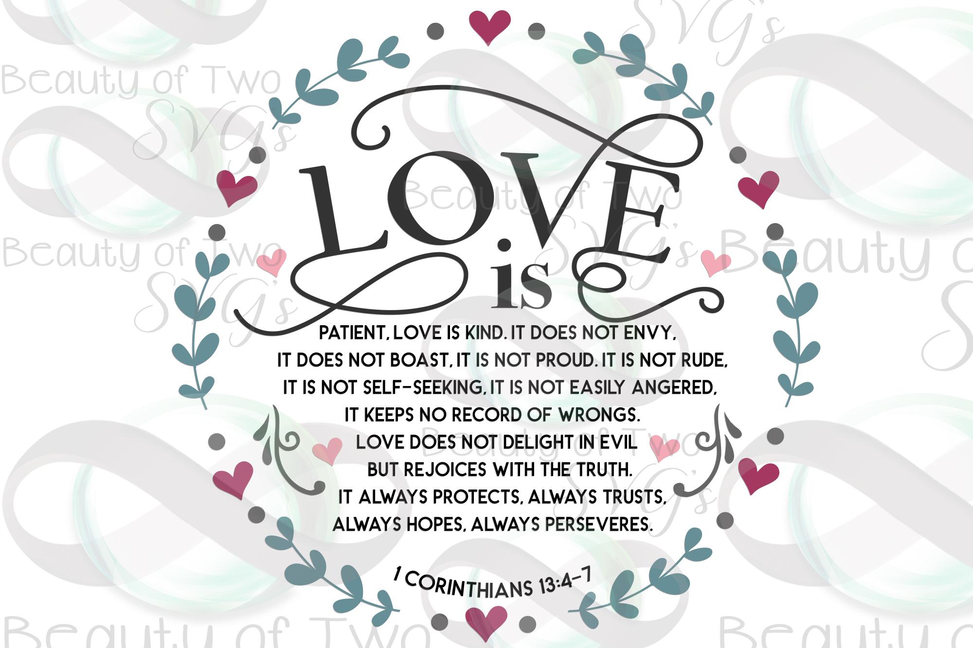 Farmhouse Christian Valentines svg, Corinthians 13 svg, love example image 3