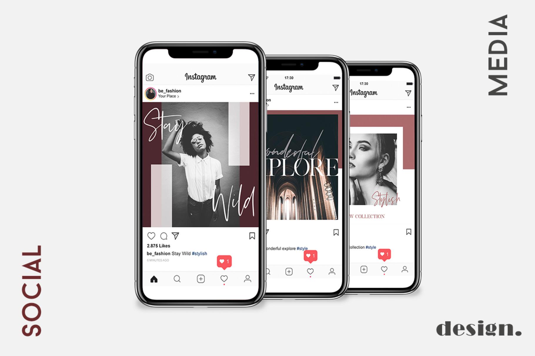 Stylish Social Media Pack - Instagram example image 3
