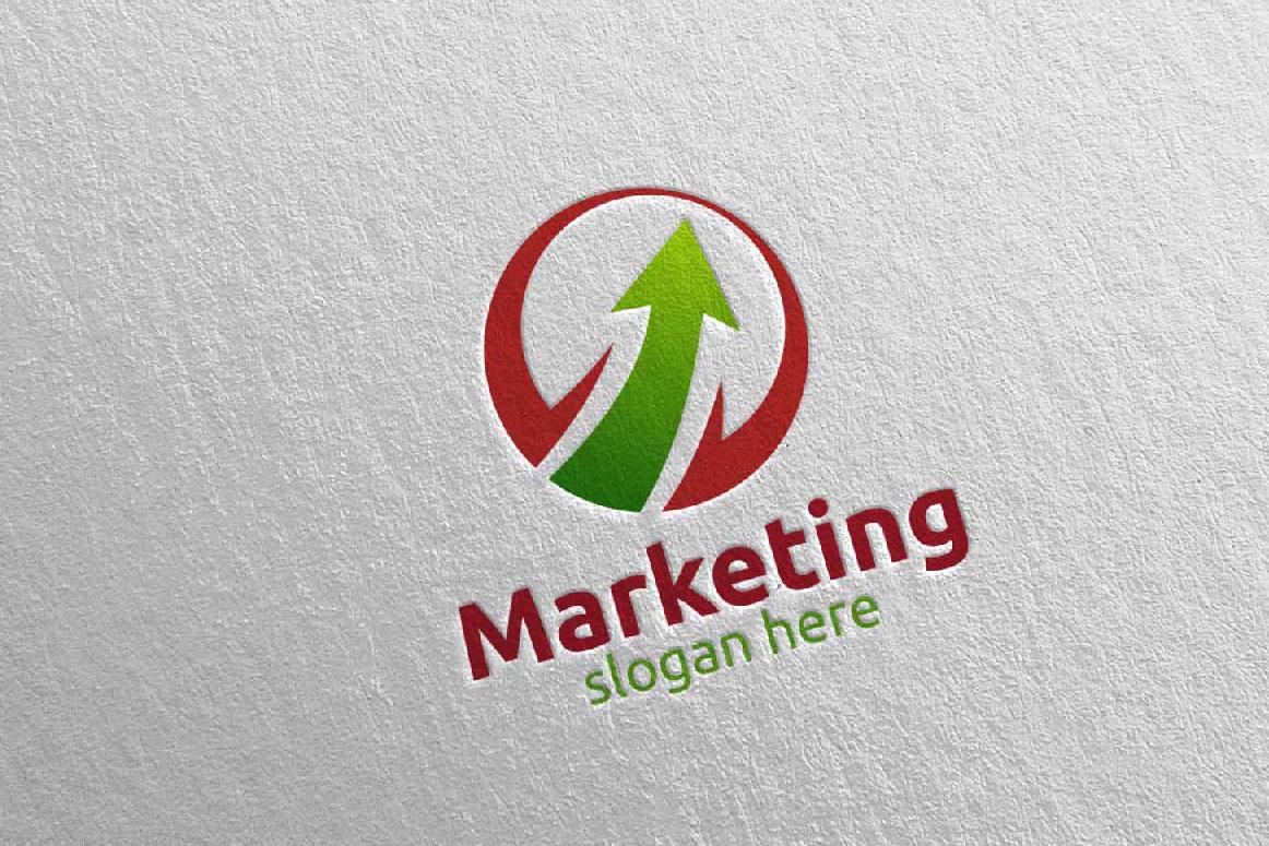Marketing Financial Advisor Logo Design 28 example image 3