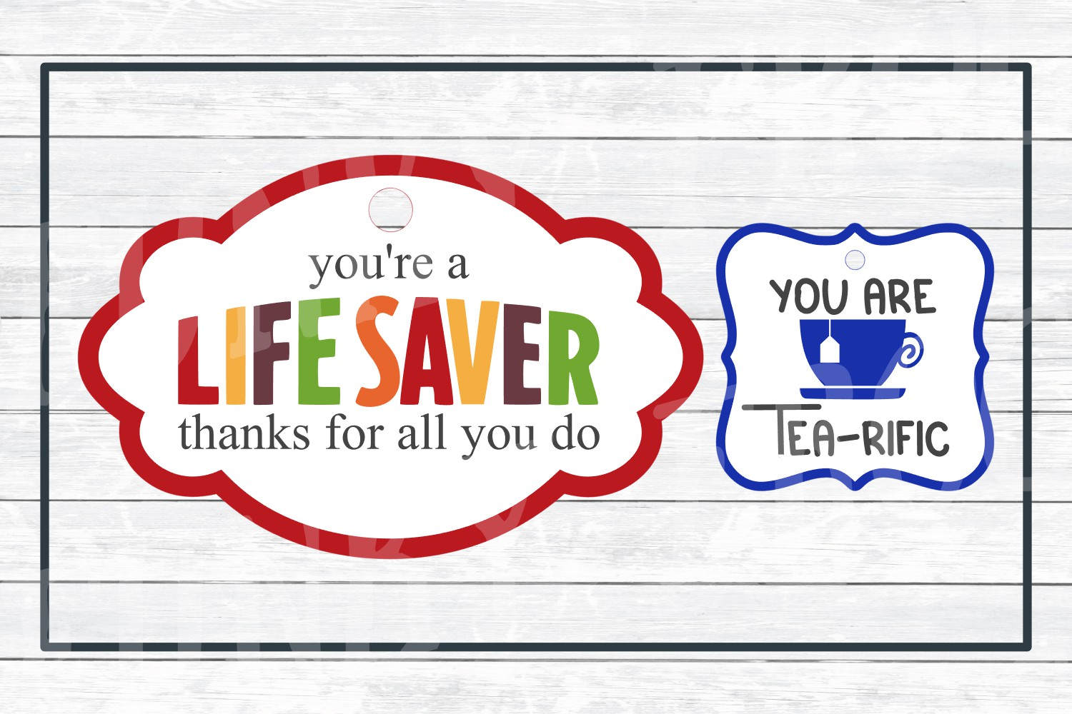 graphic about You're a Lifesaver Printable named Instructor Appreciation Reward Tags-Print and Minimize, SVG Slash Data files