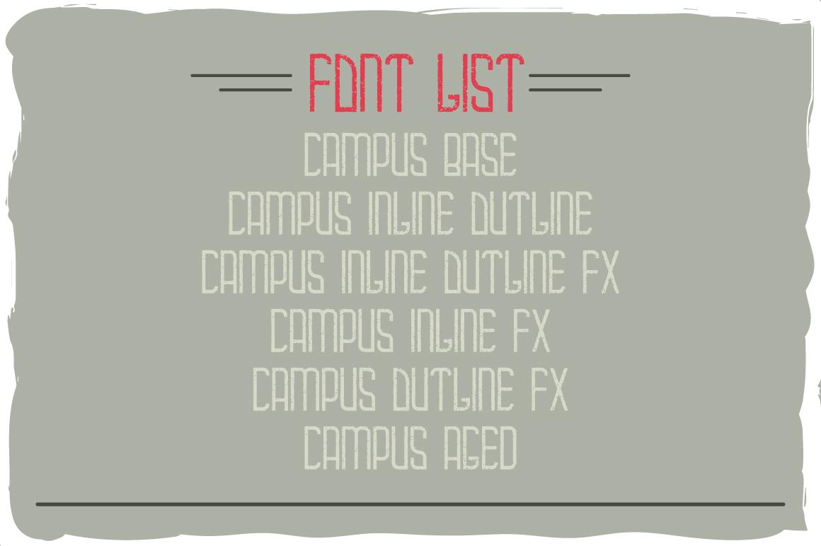 Campus typeface example image 5