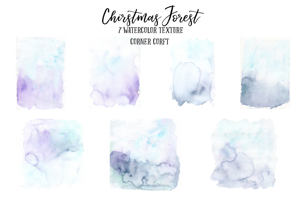 Watercolor Christmas Forest  example image 2
