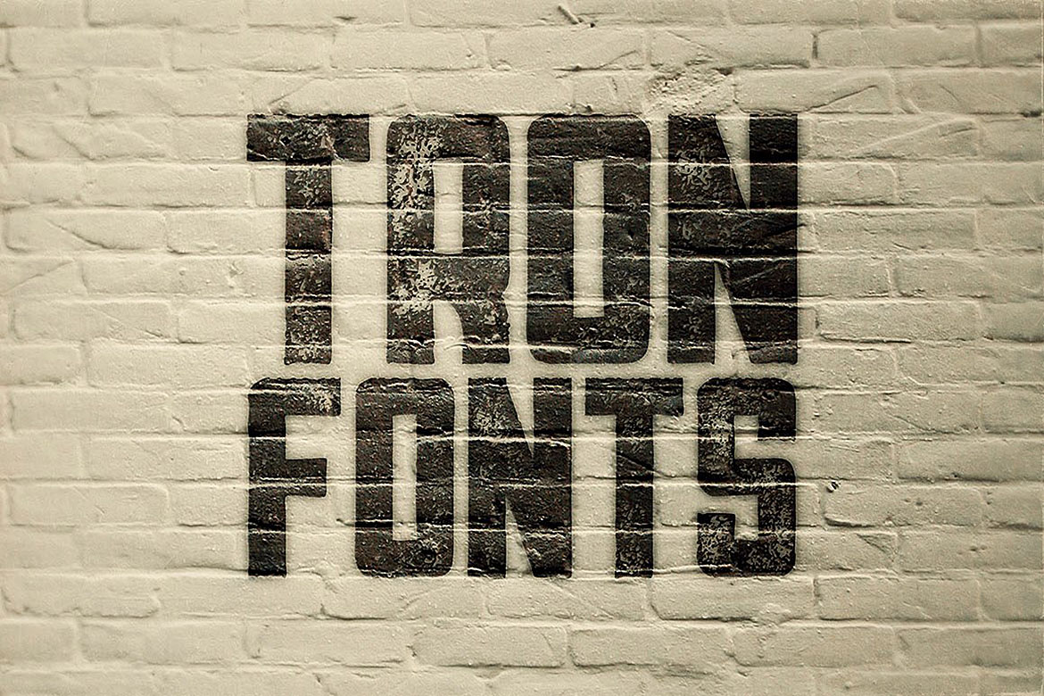 Tron - Display Font example image 2