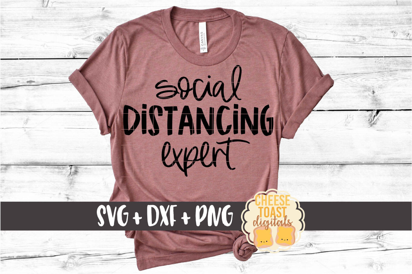 Social Distancing Expert SVG PNG DXF Cut Files example image 1