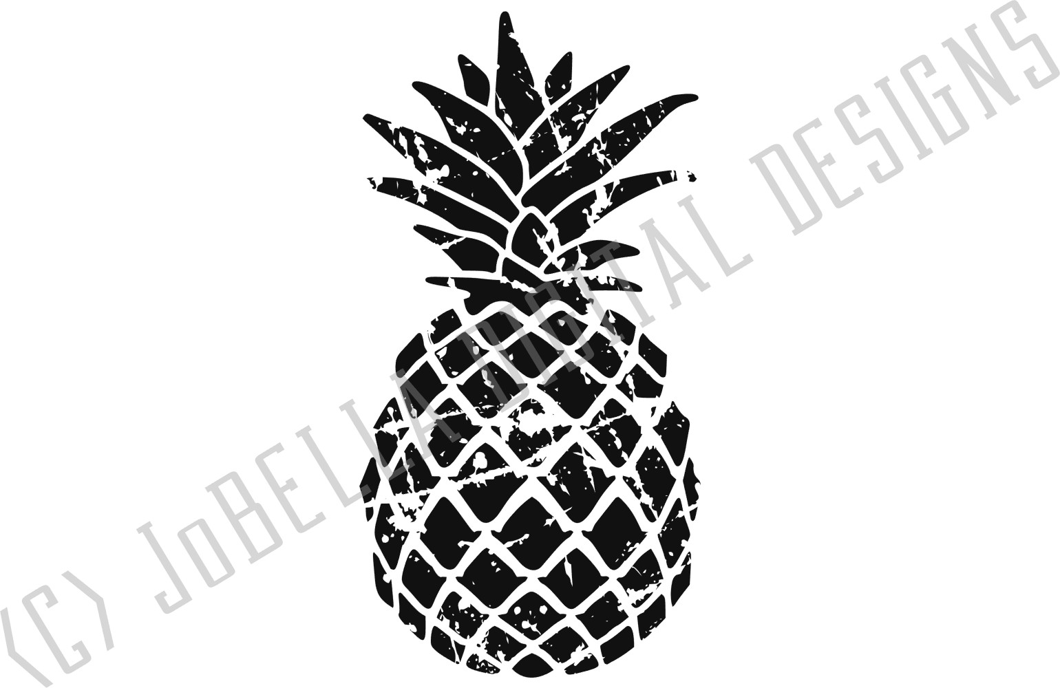 Distressed Pineapple SVG and Printable example image 3