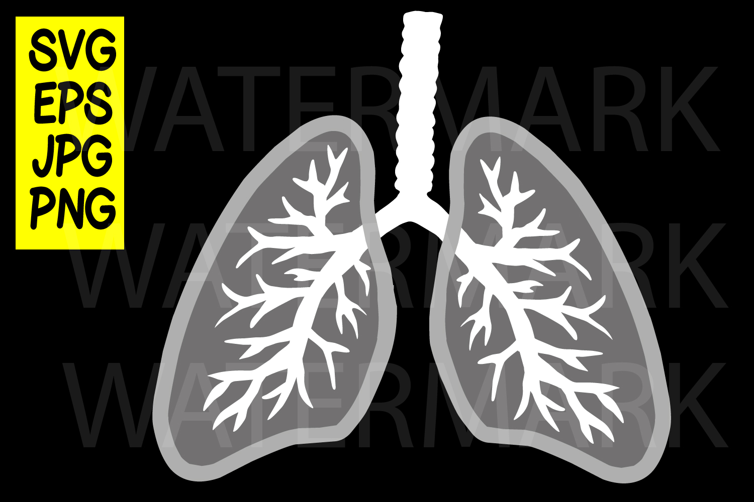Lungs - SVG-EPS-JPG example image 1