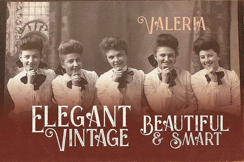 Valeria - Display Font example image 4