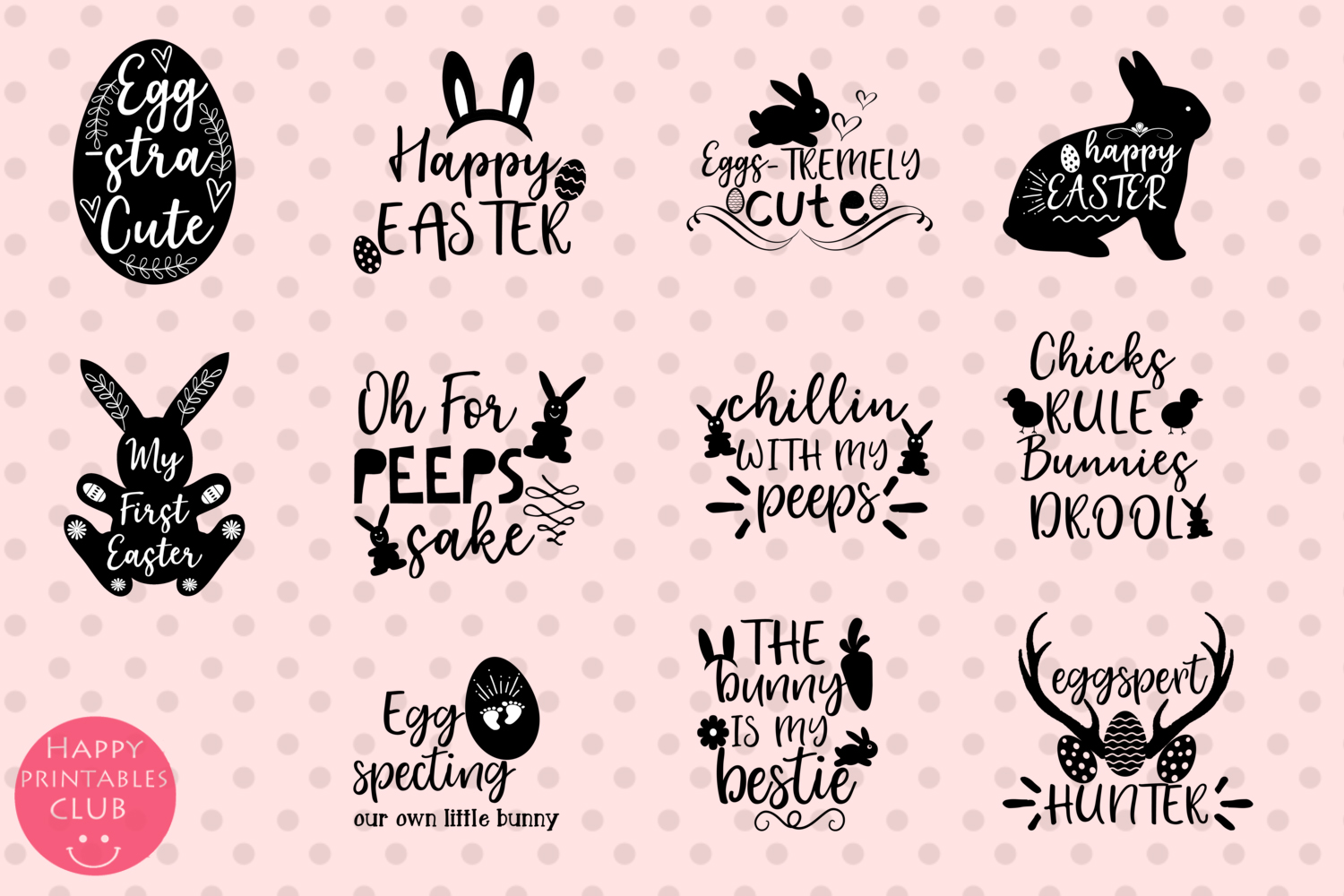 Easter Word Art Clipart- Easter Clipart Graphics- Overlays example image 3