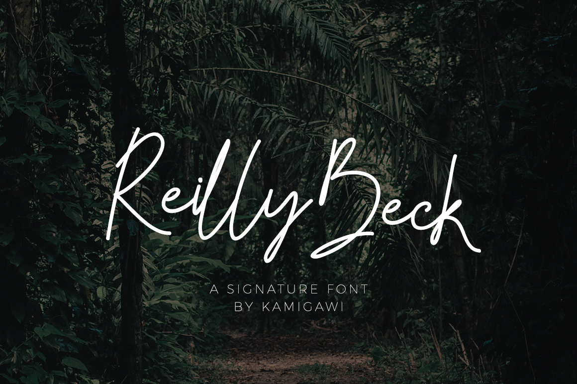 Reilly Beck - Signature Font example image 1
