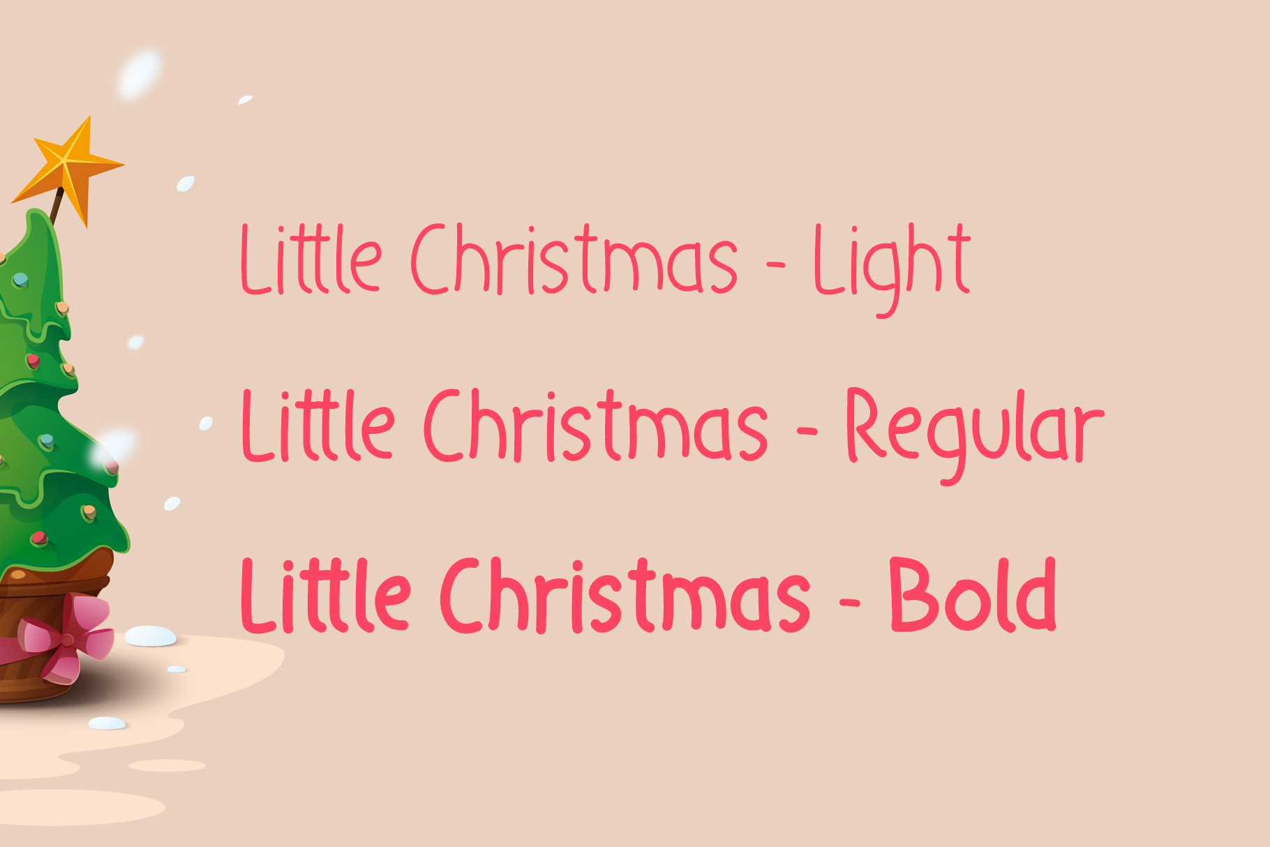 Little Christmas - Cheerful Holiday Font example image 2