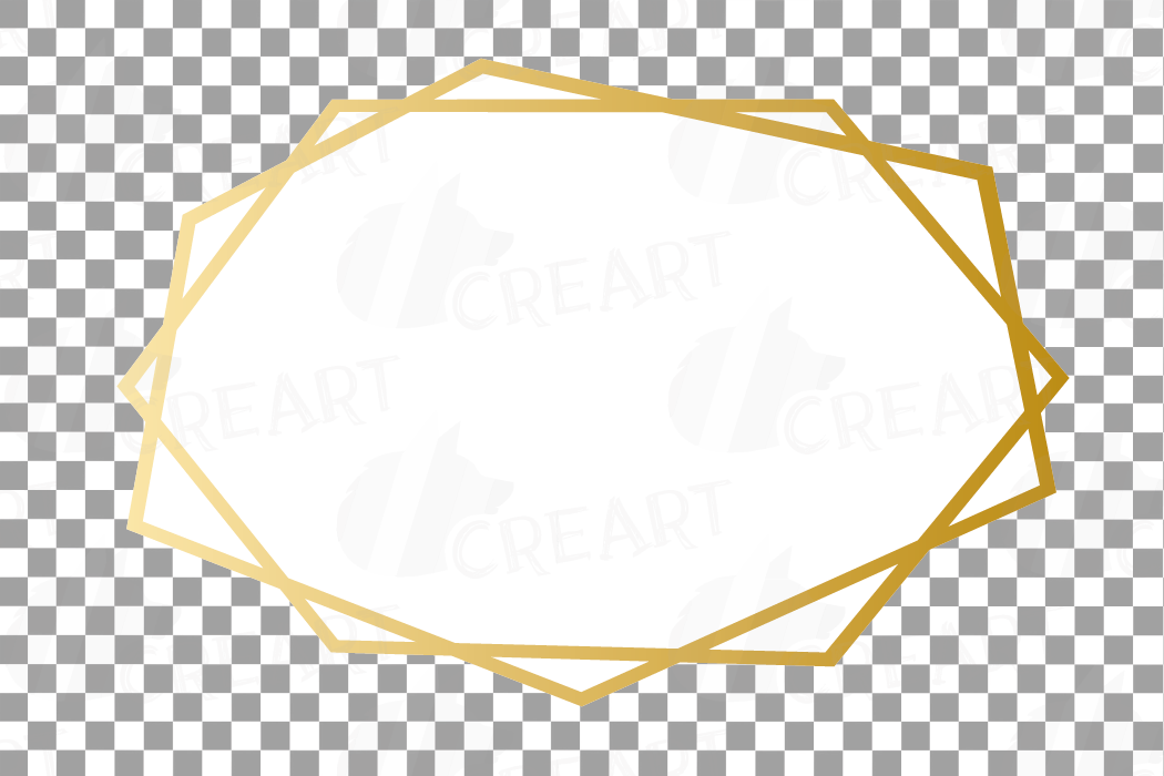 Elegant wedding geometric golden frames, lineal frames png example image 27