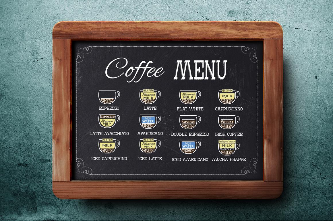 Coffee menu. example image 1