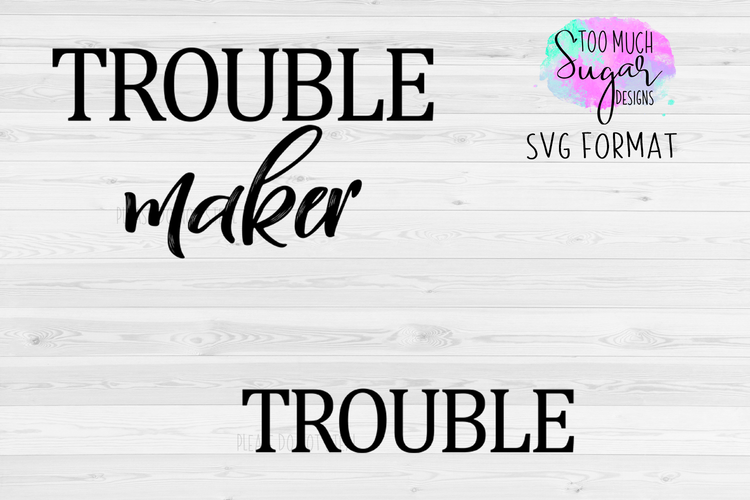Trouble Maker / Matching Shirts Design / Cut Files example image 1