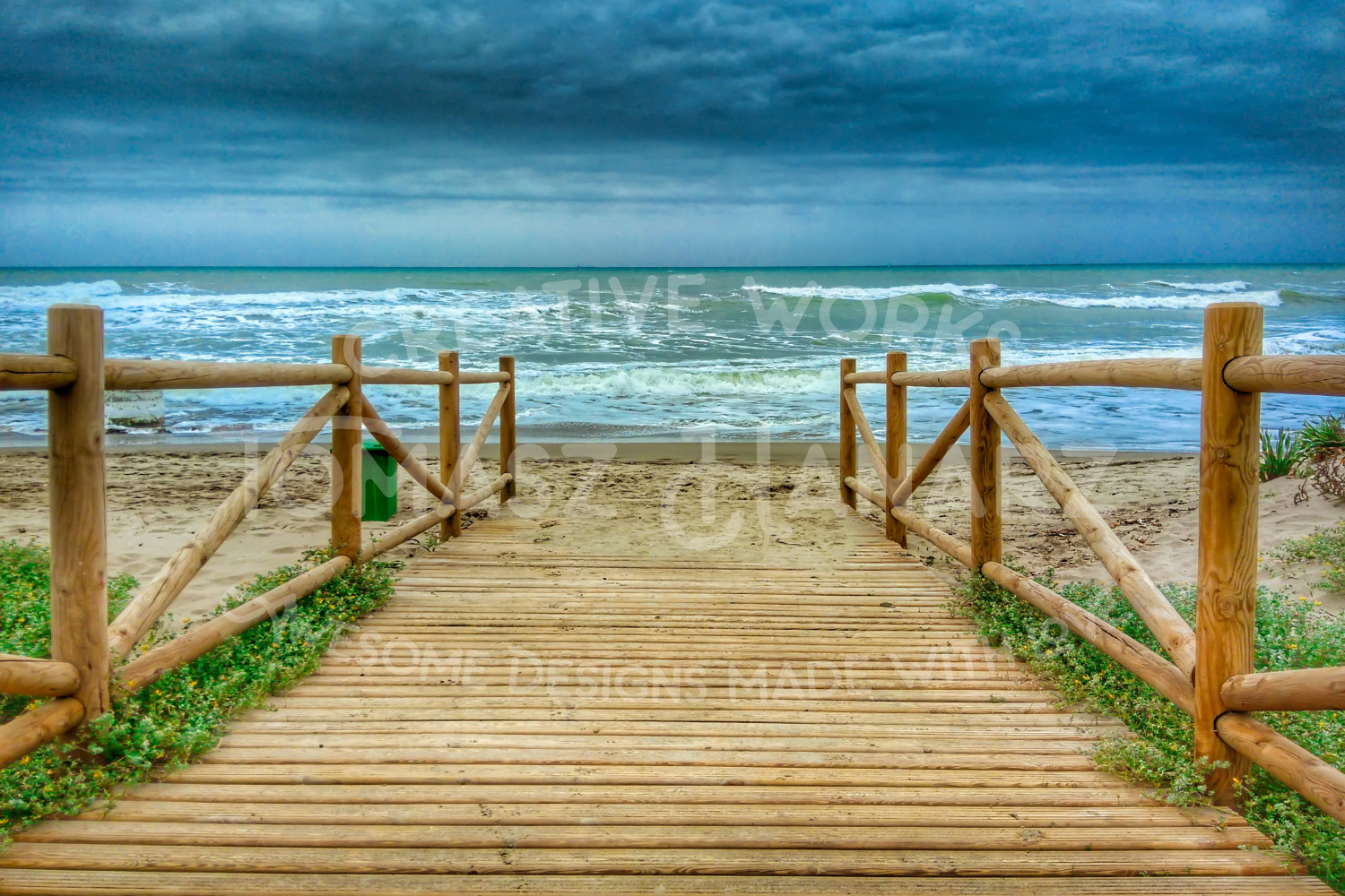 Wooden Promenade On The Beach example image 1
