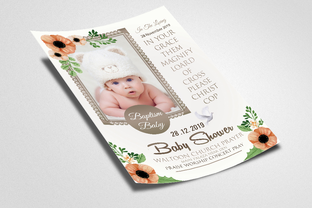 Baby Shower Invitation Flyer Template example image 2