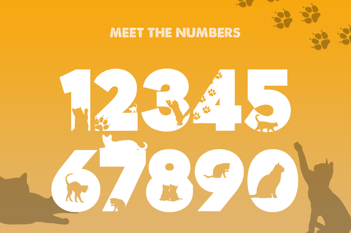 Kittens Silhouette Font example image 3