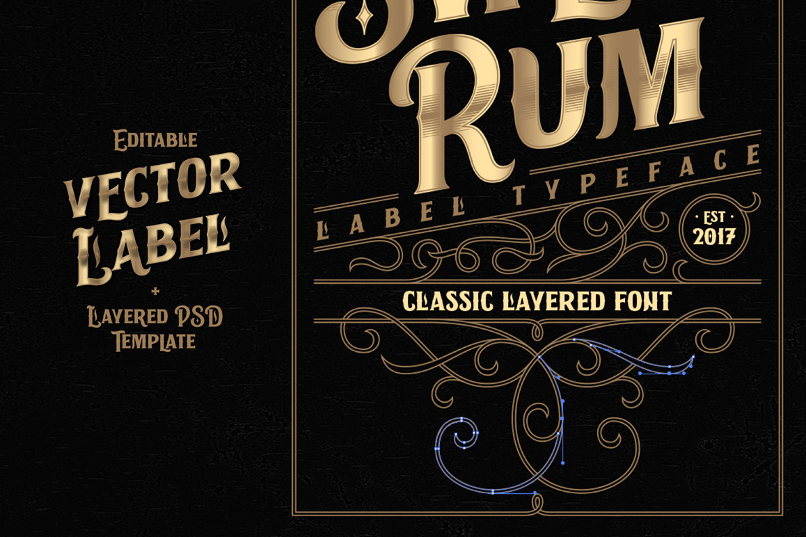 Sweet Rum Font, Label, Mockup example image 4