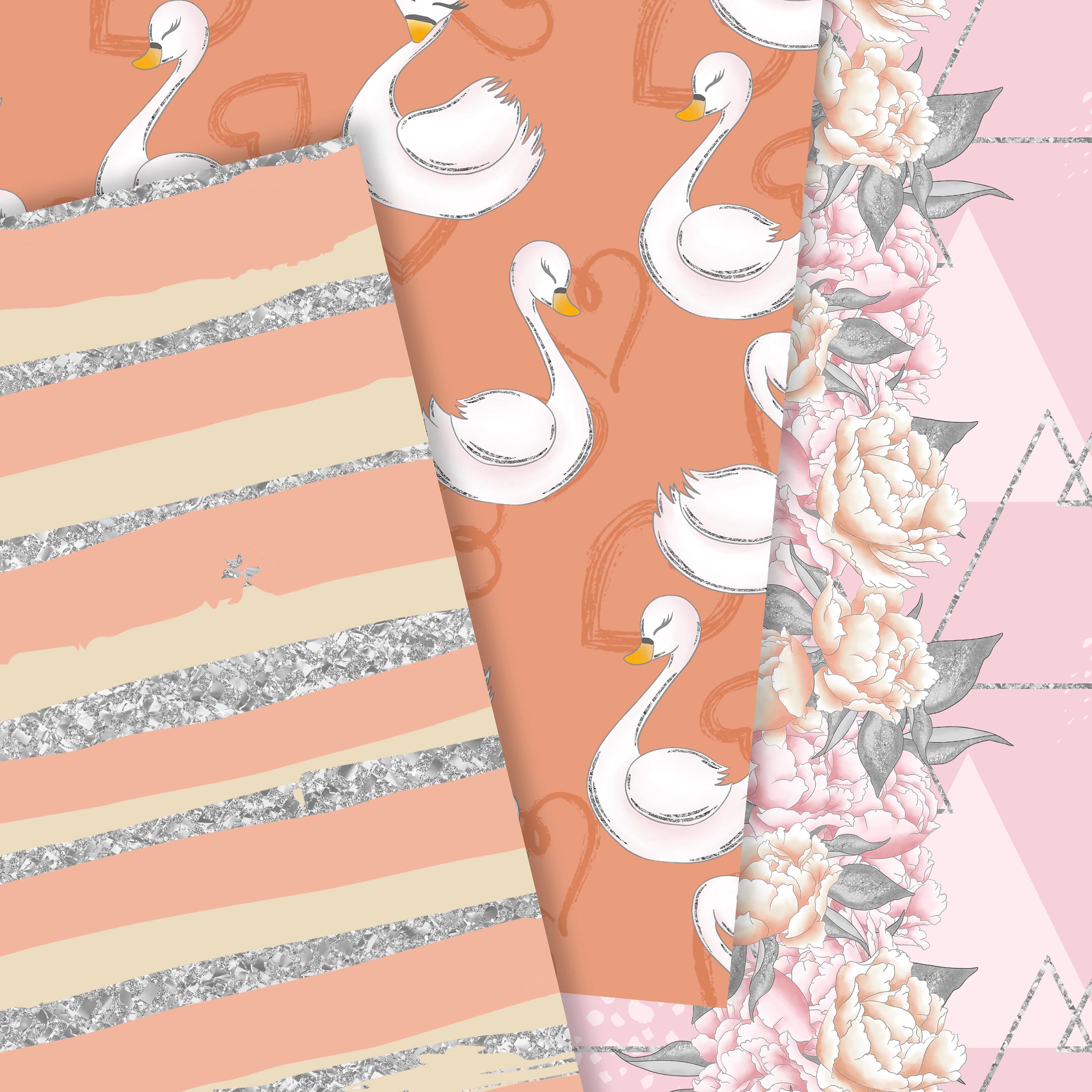 Wild swans patterns example image 5