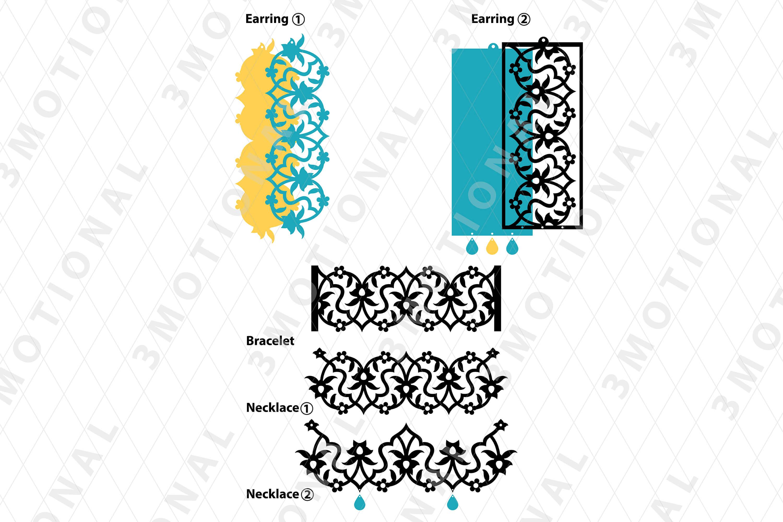 Eastern style acrylic leather wood jewelry kit 03 example image 3