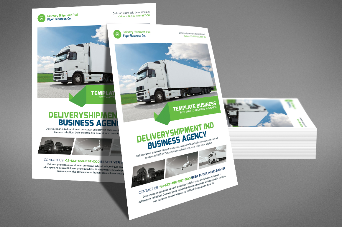 Delivery Shipment Flyer example image 4