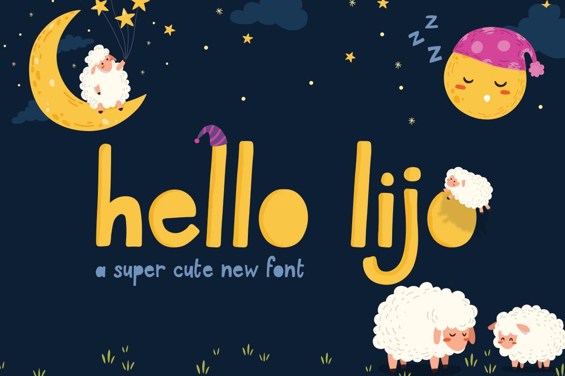 Hello Lijo Font example image 1