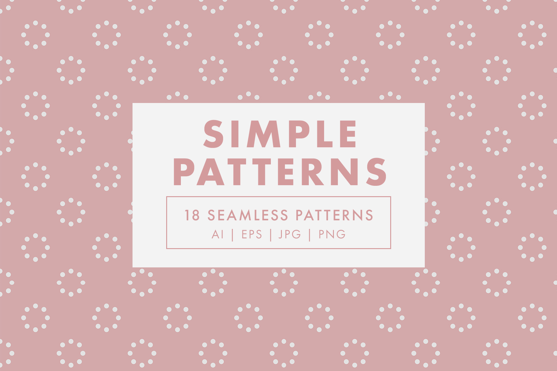 Simple Seamless Vector Patterns example image 1