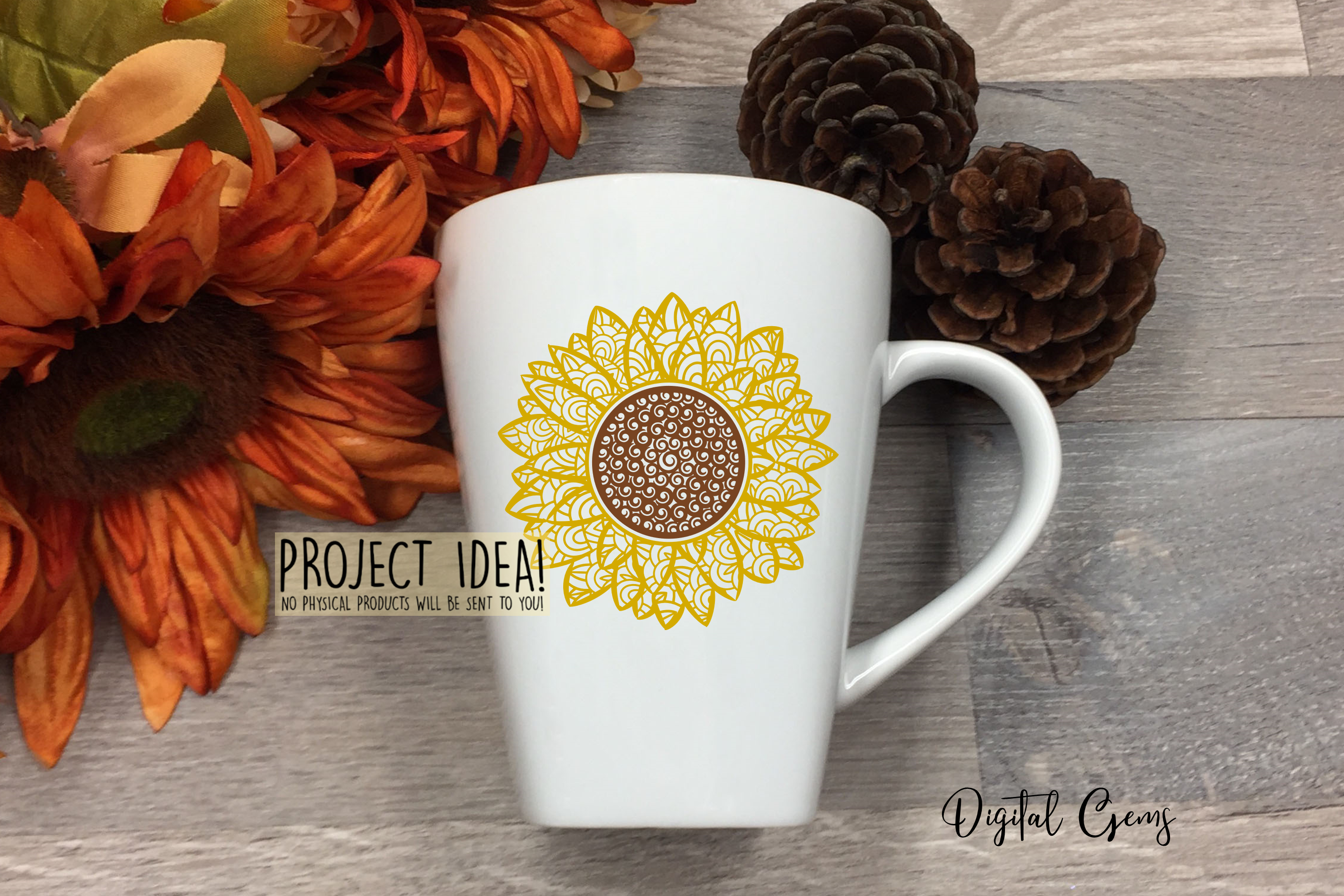 Sunflower SVG / PNG / EPS / DXF Files example image 3