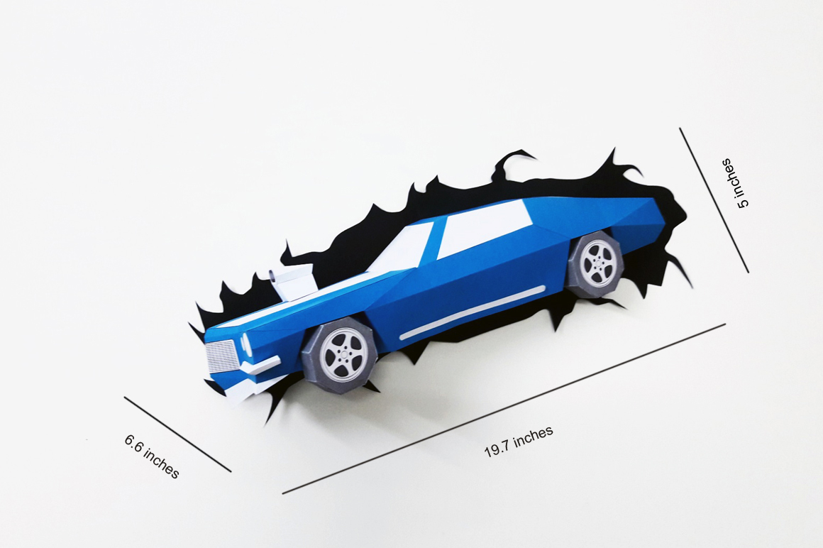 DIY Crashing Car - 3d papercraft example image 4
