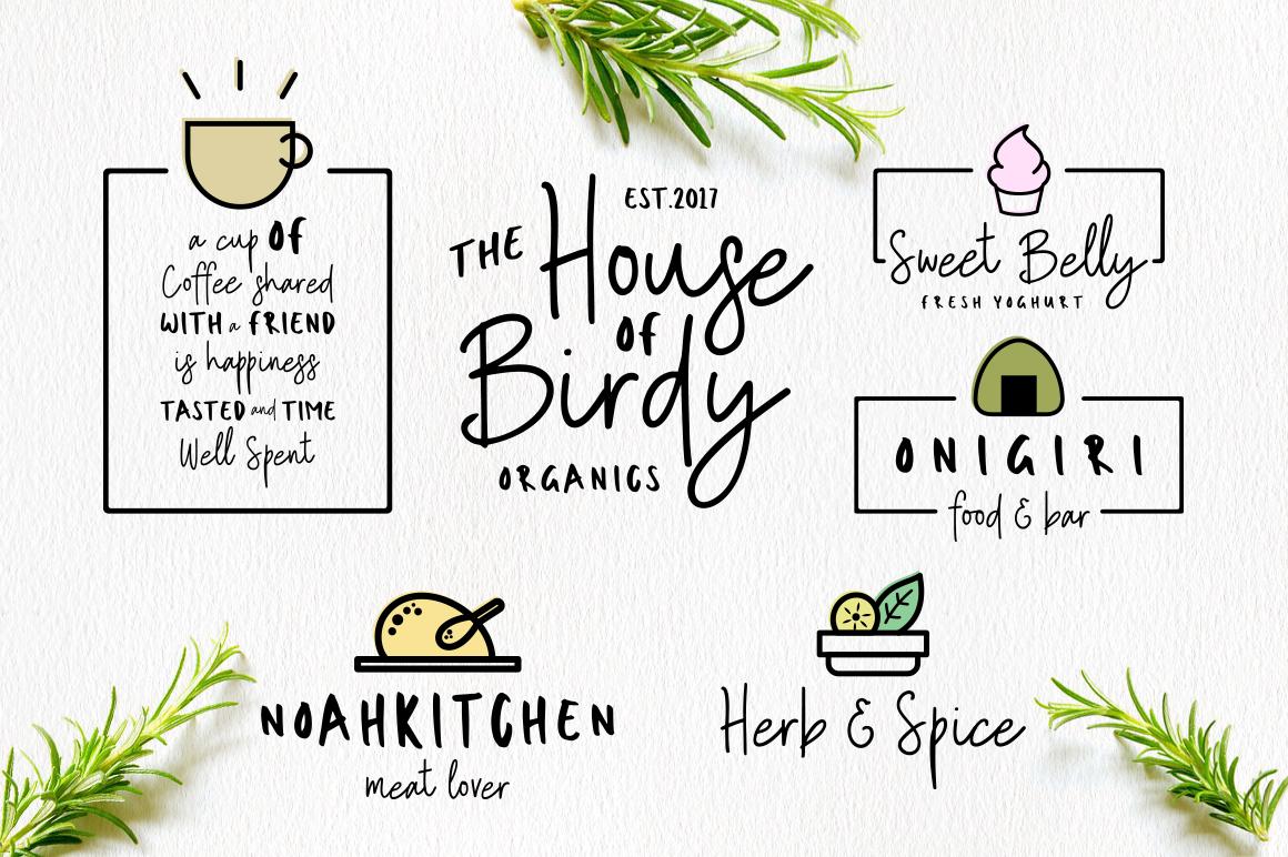 Sweet Belly | Font Duo + Bonus example image 5