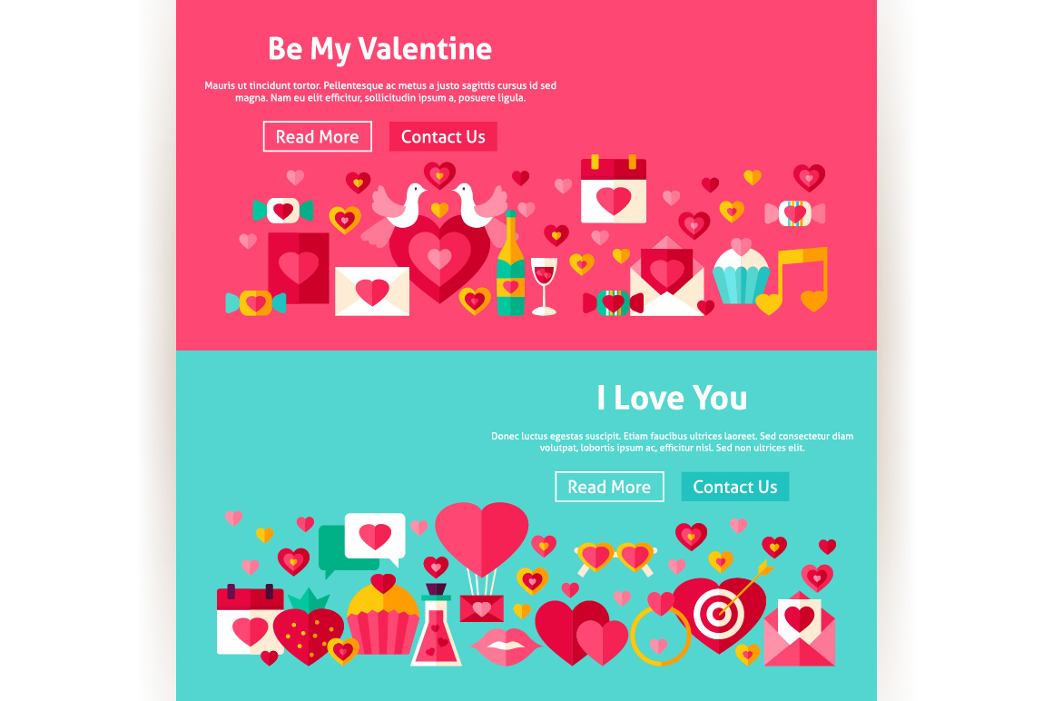Valentine's Day Website Banners example image 5