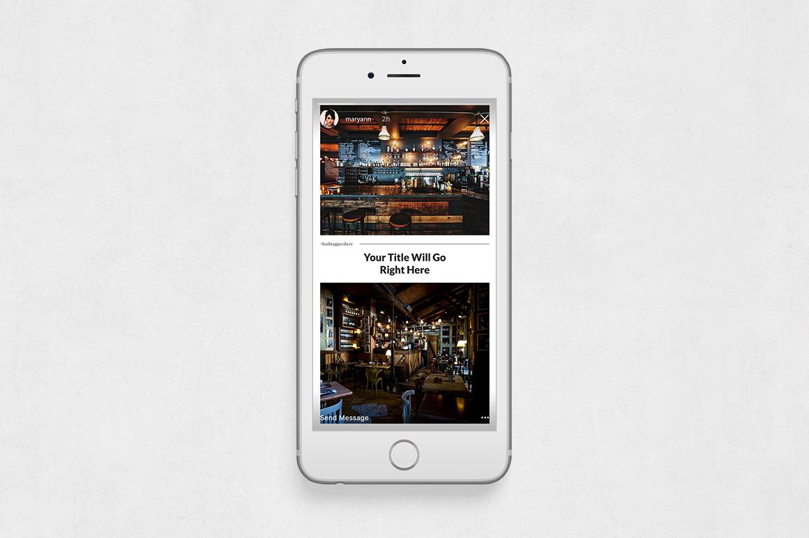 Restaurant Animated Instagram Stories example image 6