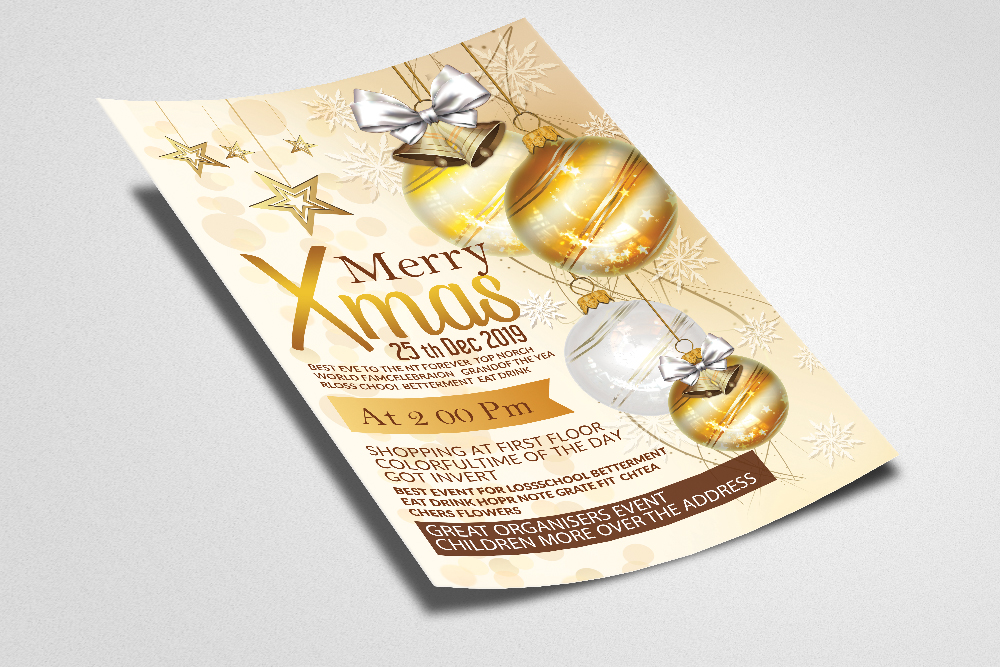 Merry Christmas Party Flyer example image 2