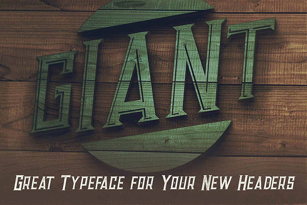 Giant - Vintage Style Font example image 4