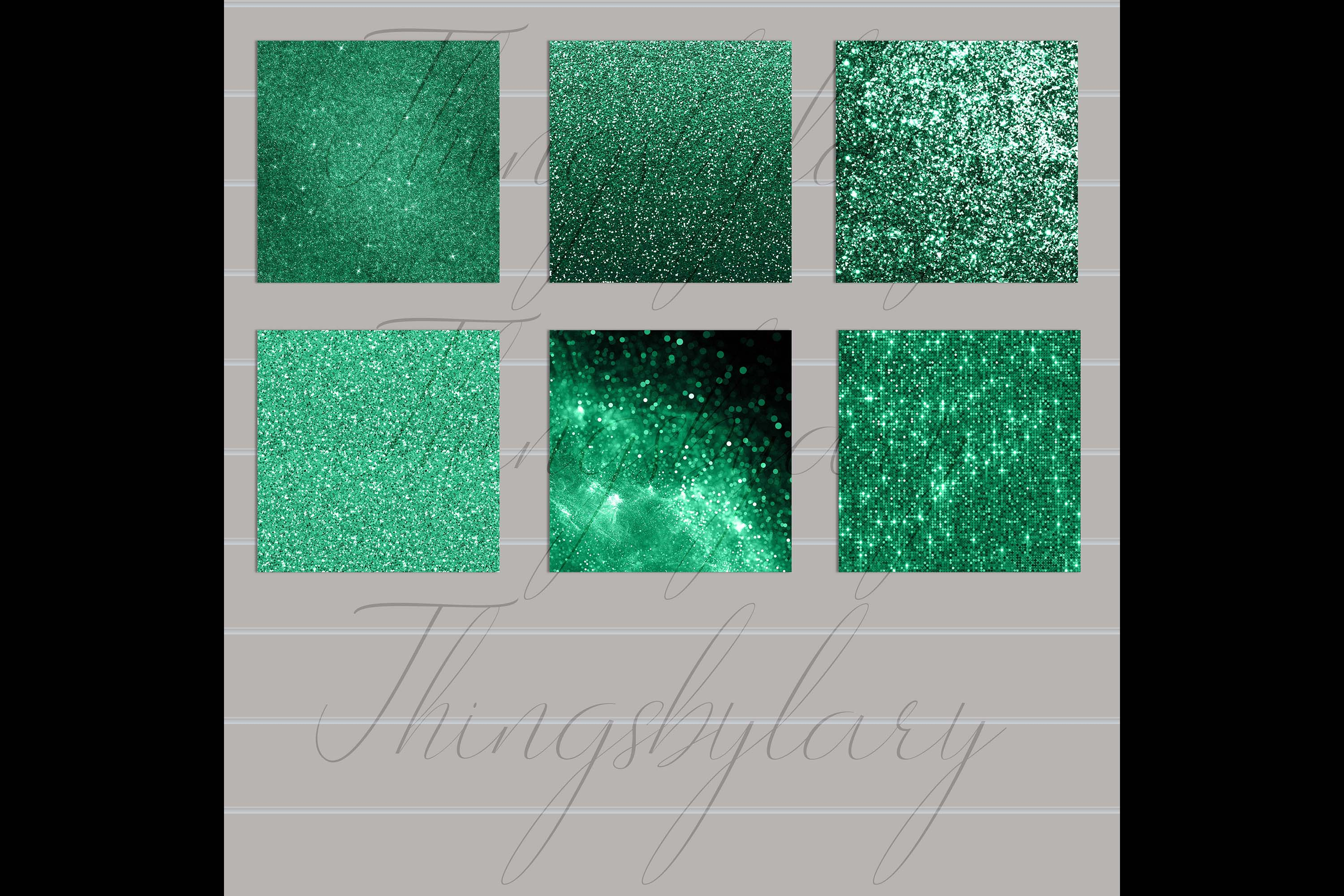 24 Luxury Saint Patrick's Day Digital Papers Glitter Sequin example image 10