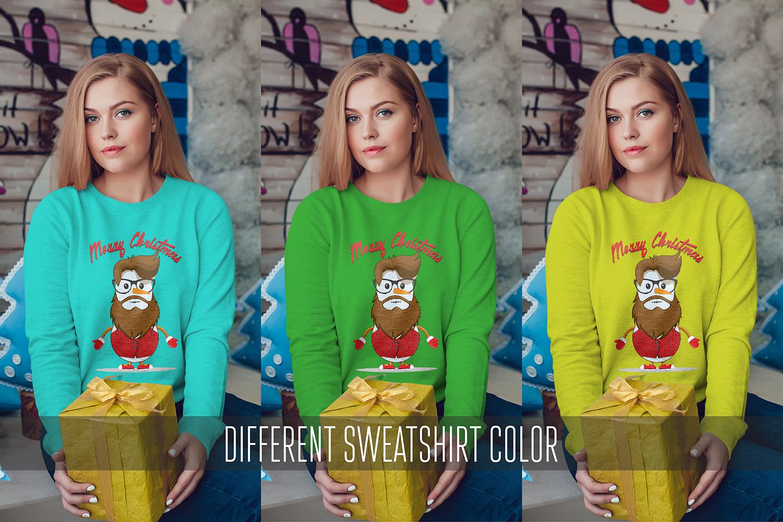 Christmas Sweatshirt Mock-Up Vol.2 example image 4