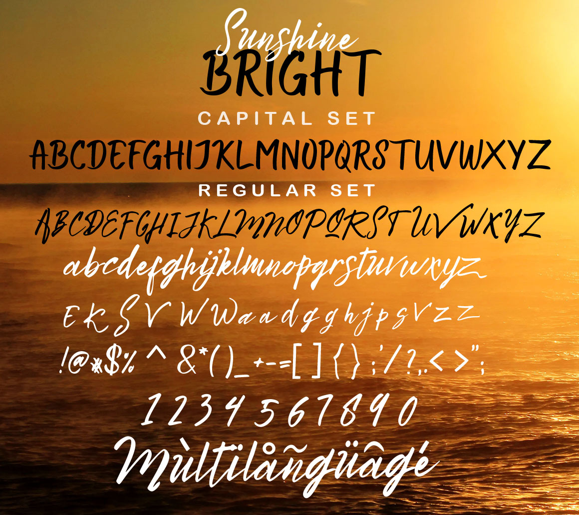 Bright Sunshine Font Duo example image 10