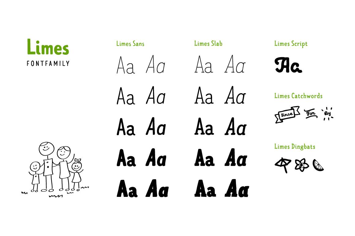 Limes—handmade fontfamily example image 4