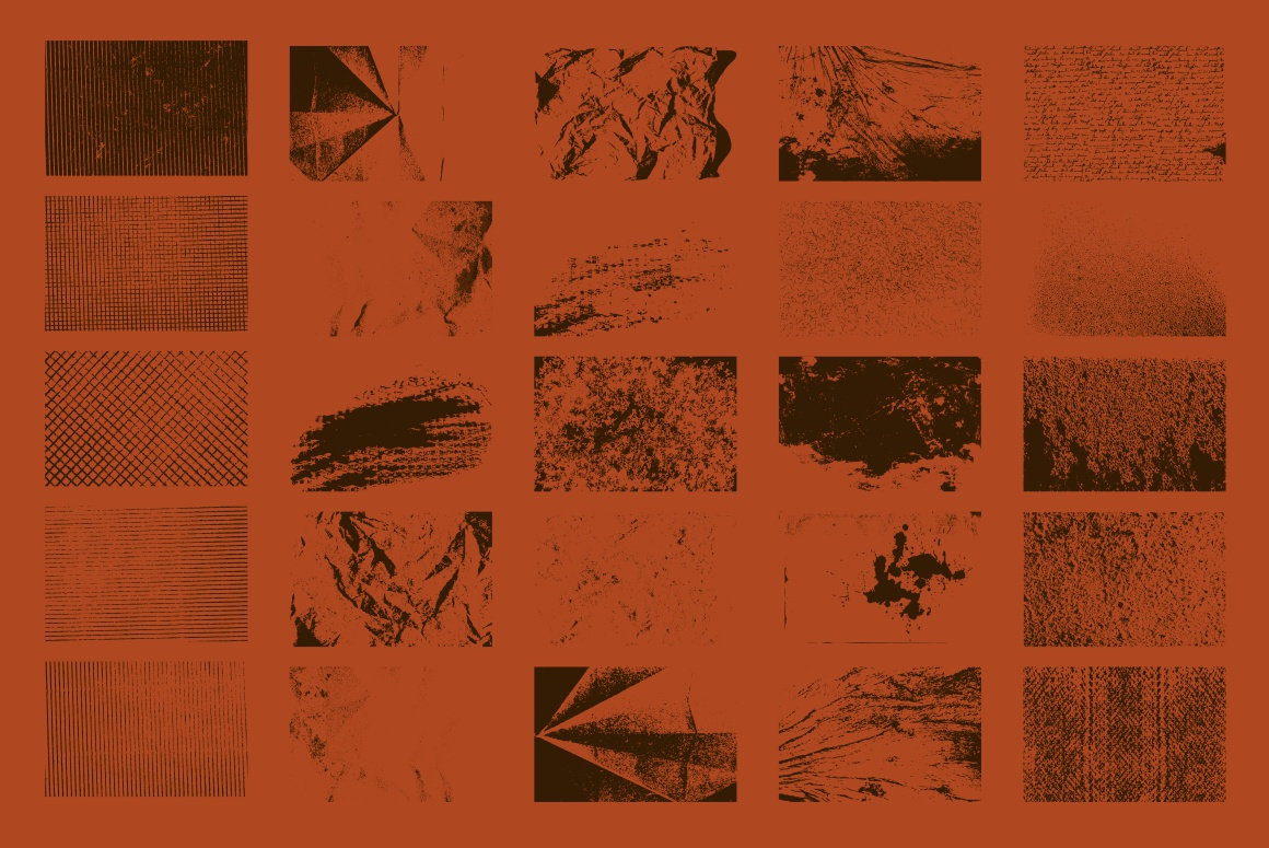 25 Vector Grunge Textures PACK example image 3
