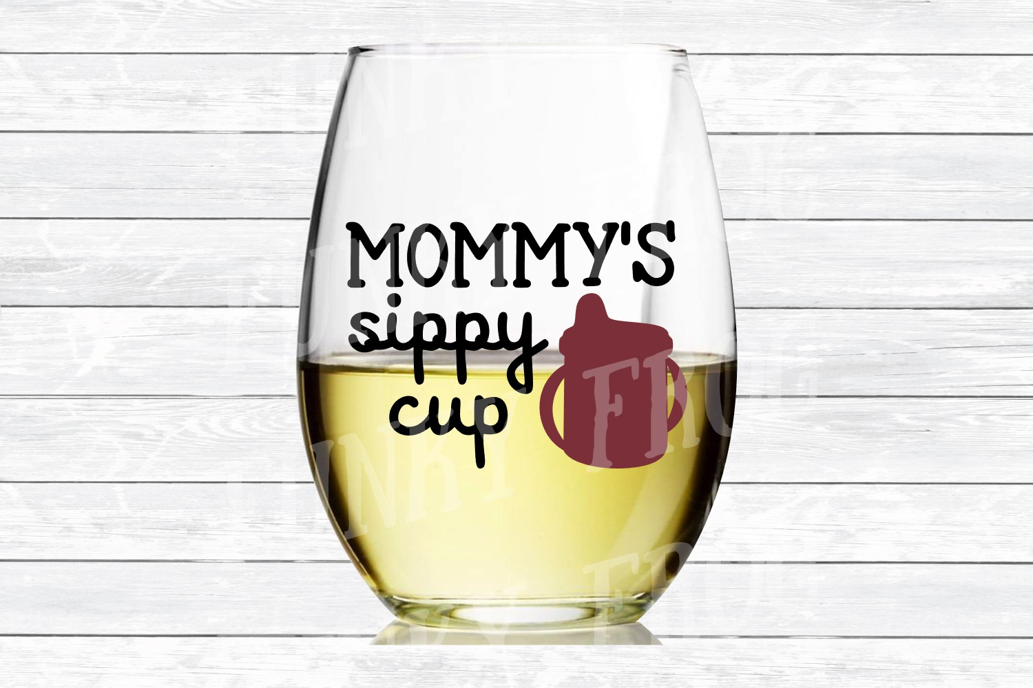 Mommy's Sippy Cup - Wine SVG Cut File for Crafters example image 3