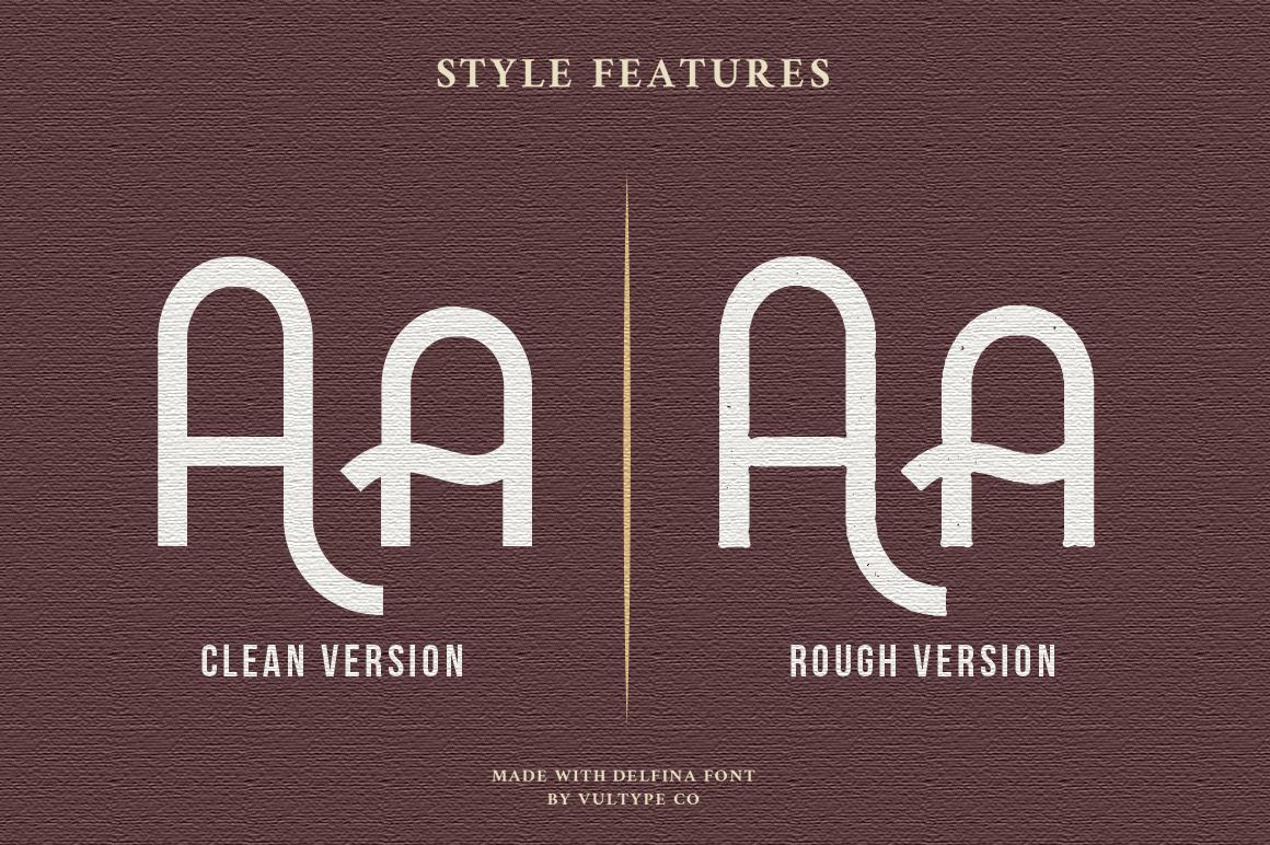 DELFINA - Vintage Sans Serif Font example image 8