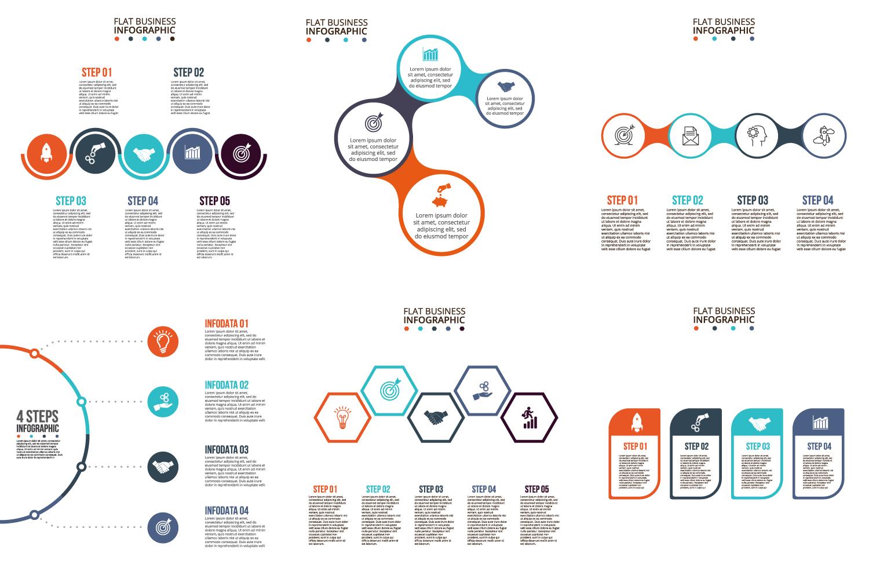 Infographic elements bundle v.02 example image 8